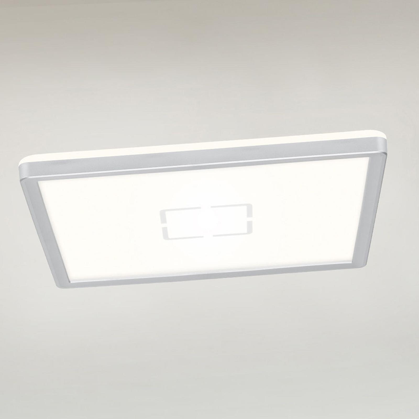 Lampa sufitowa LED Free, 29 x 29 cm, srebrna