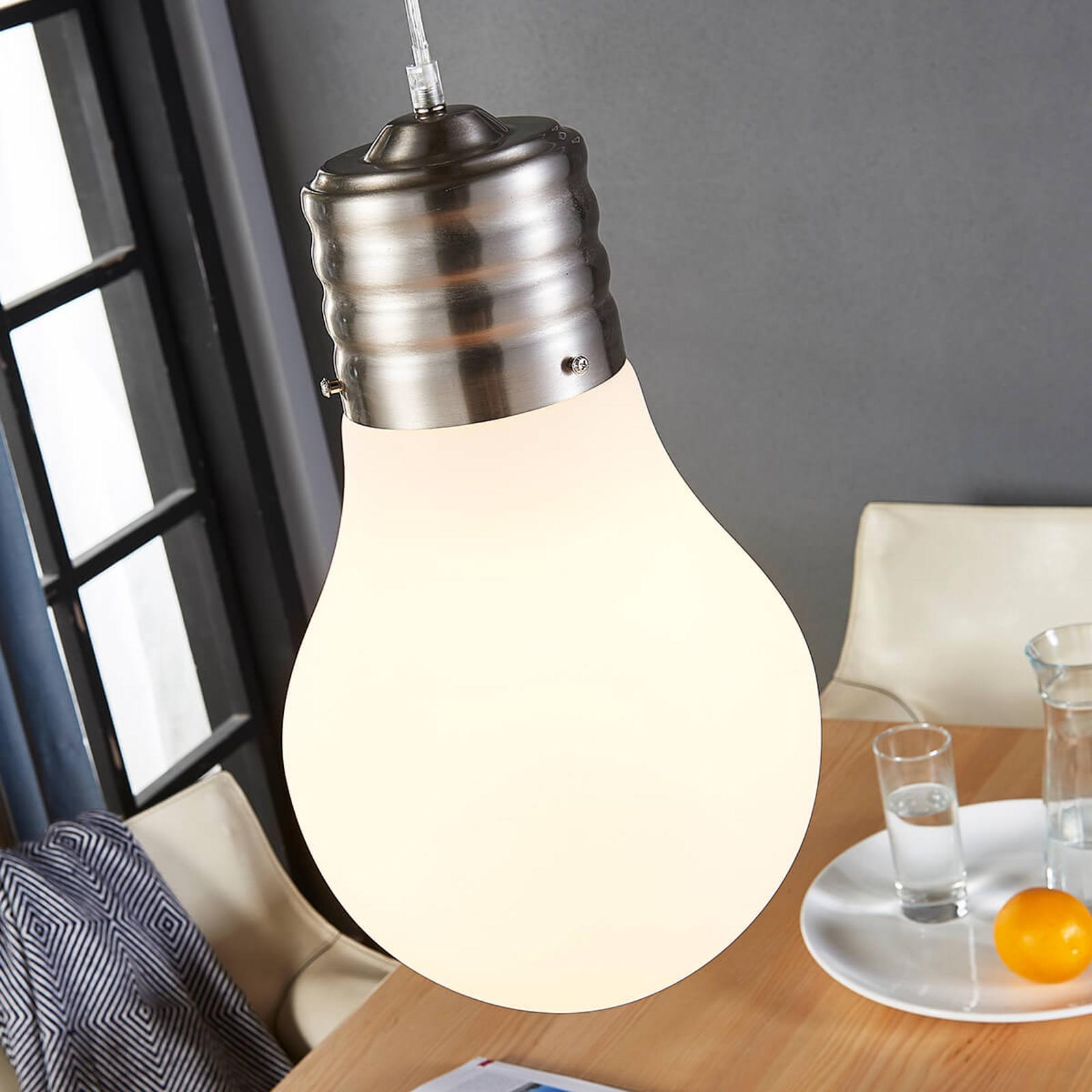 Dimbar LED-pendellampe Bado med glødepæreform