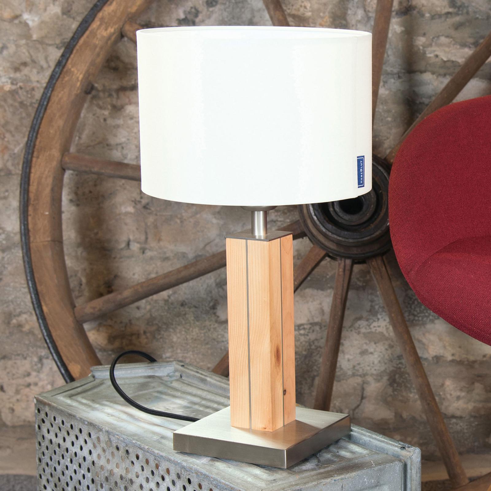 HerzBlut Dana tafellamp, alpenden, wit, 41cm