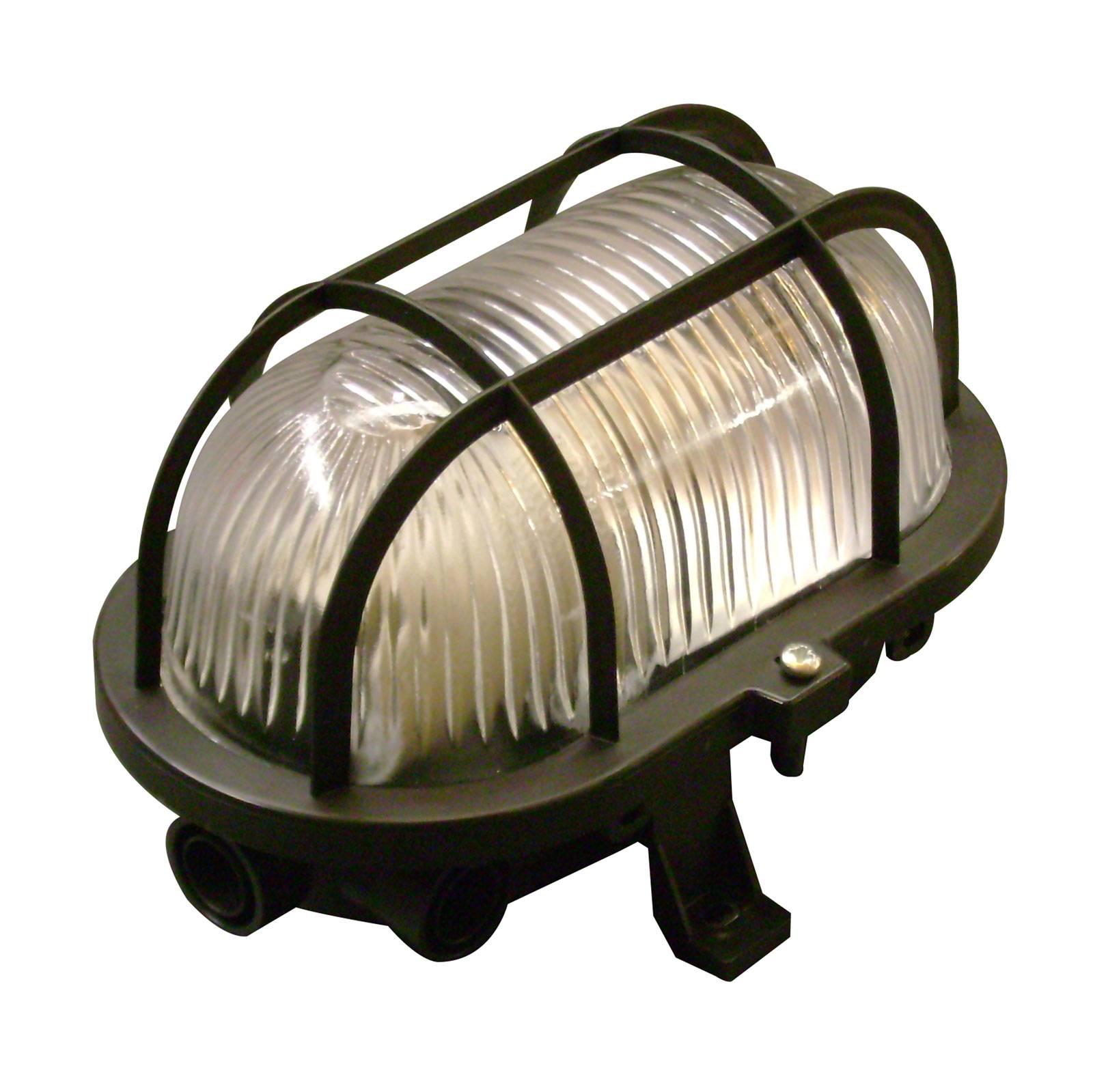Væglampe Basic Oval, sort
