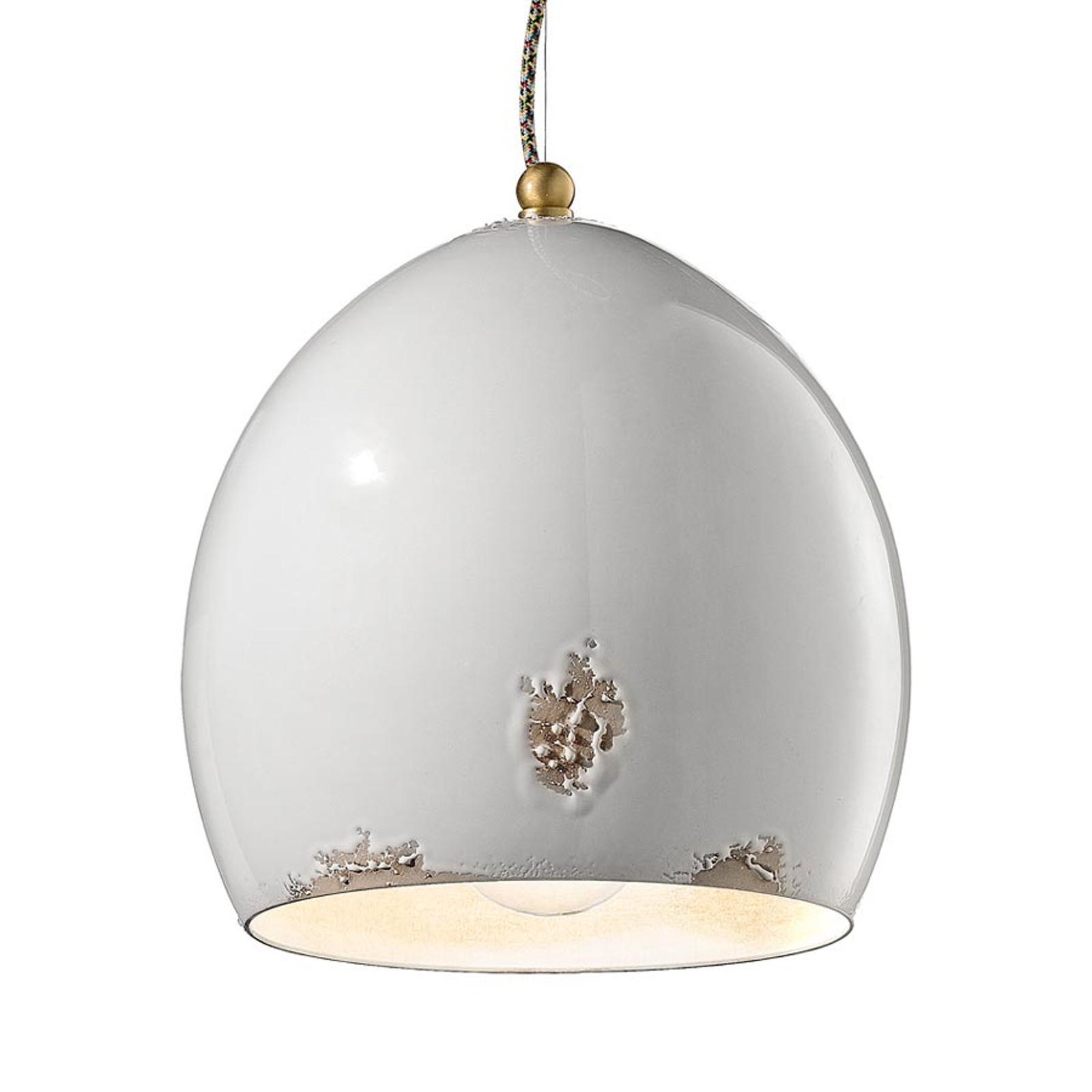 Rebecca antikhvid hængelampe, keramik