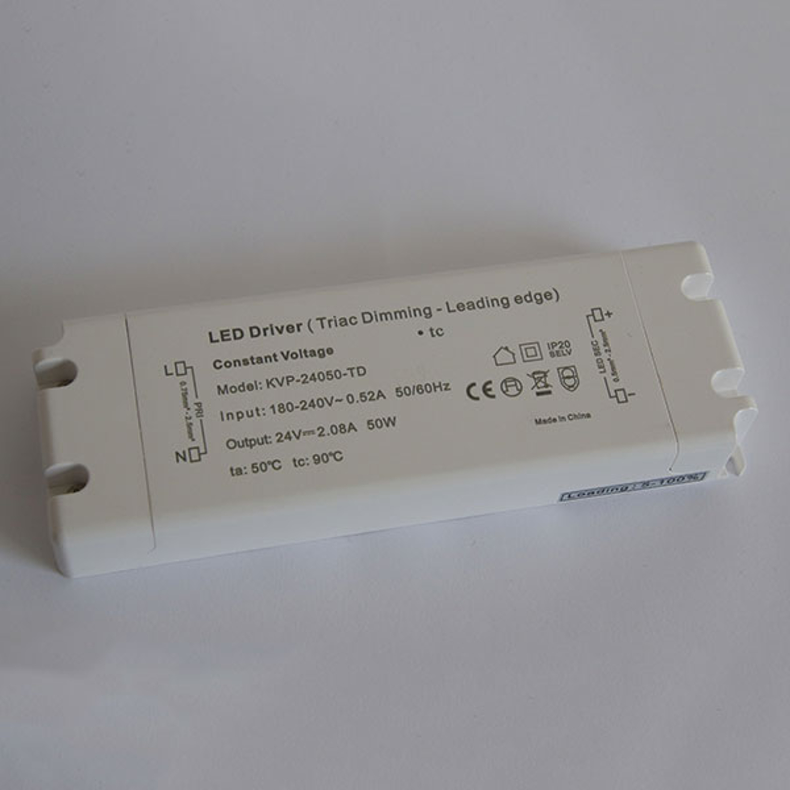 Alimentatore TRIAC dimming IP20 LED 25W