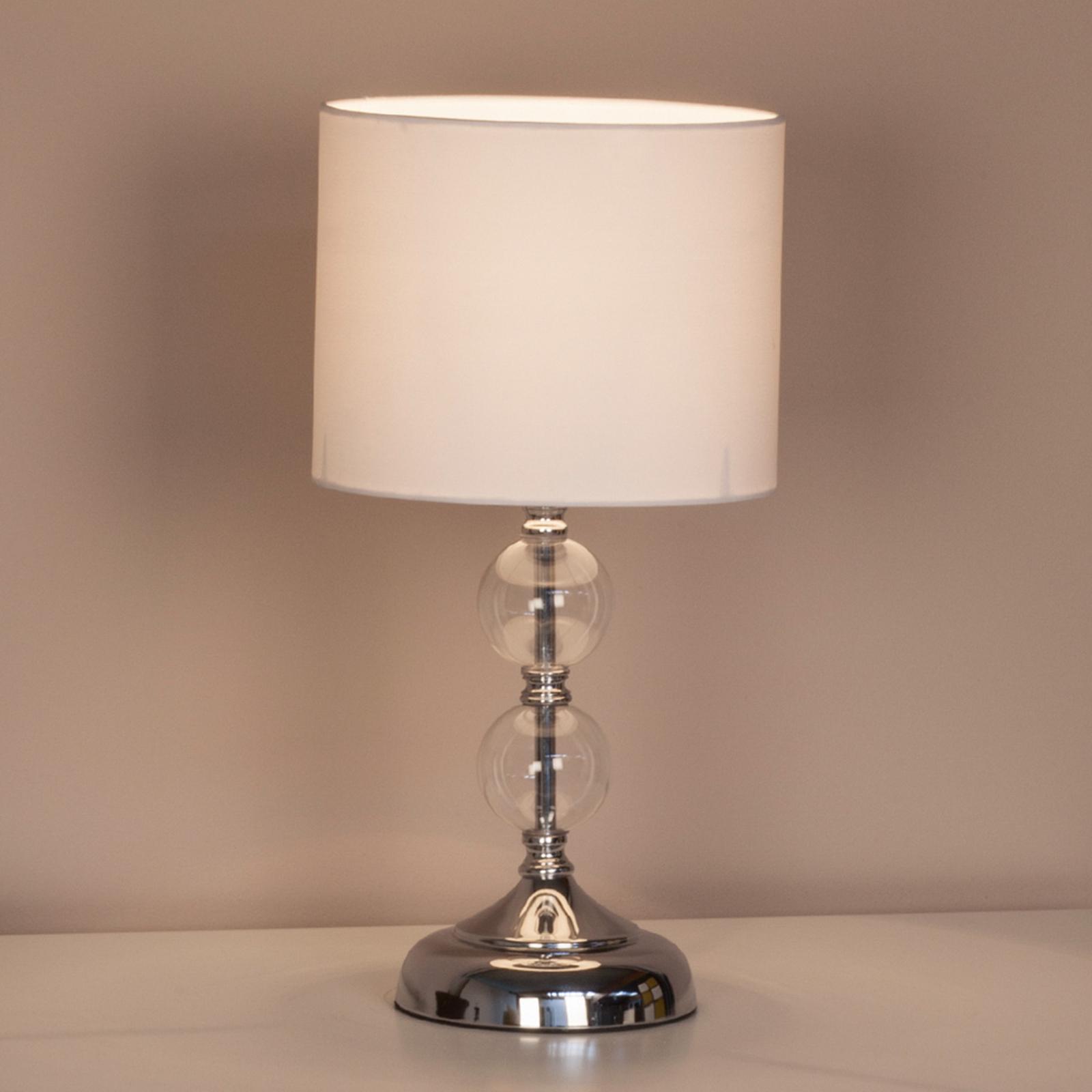 Dekorativní stolní lampa Rom s textilním deštníkem