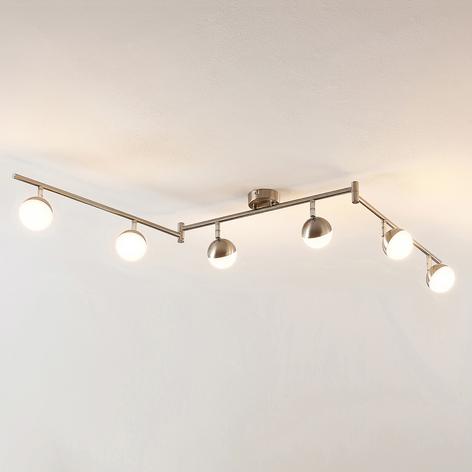 Lindby Lientje LED-taklampe, seks lyskilder