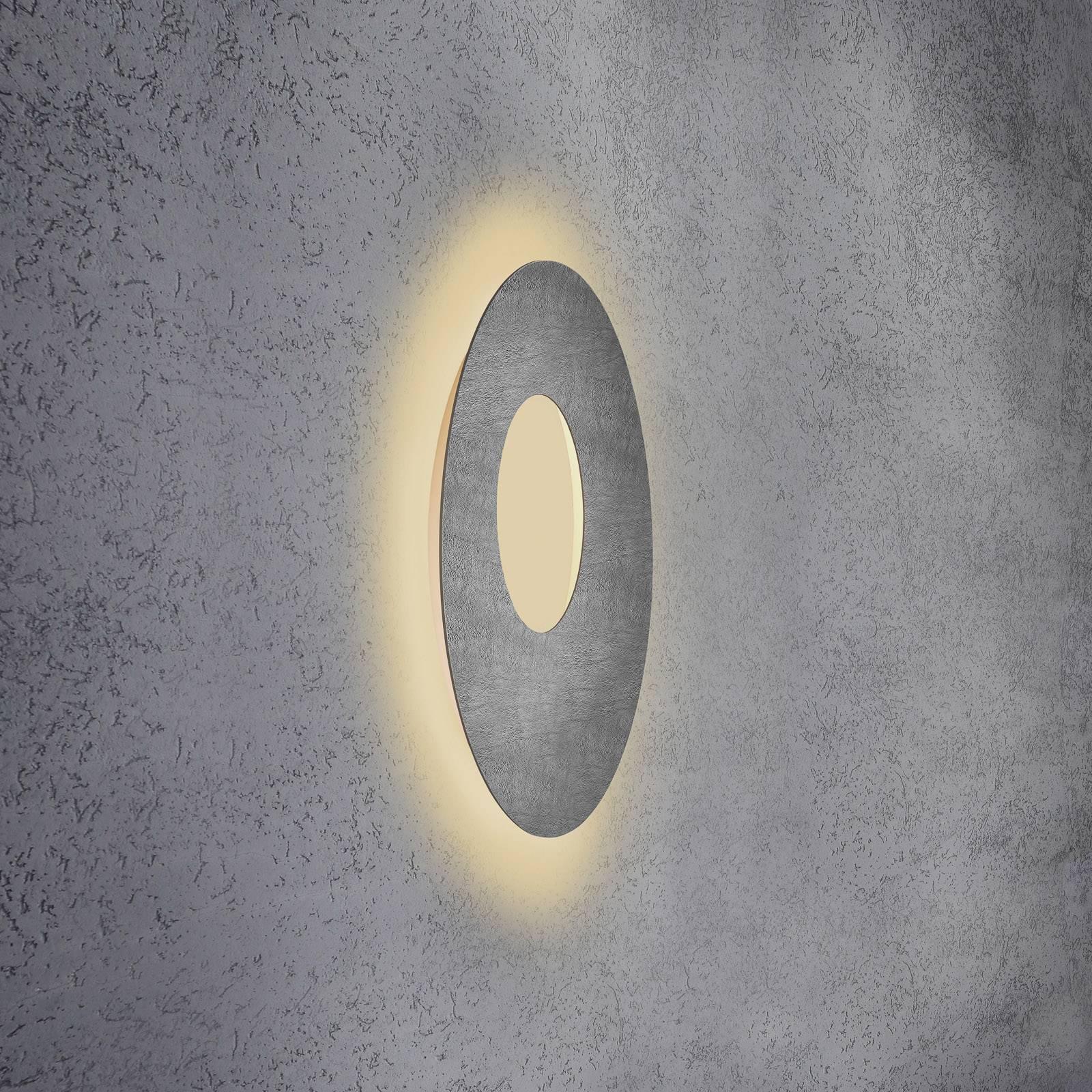 Escale Blade Open applique LED, béton, Ø 59cm