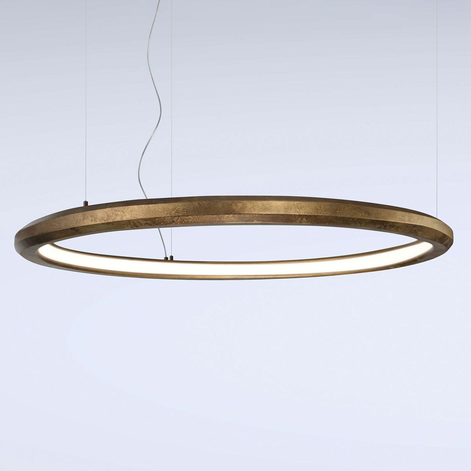 LED-Hängeleuchte Materica innen Ø 120 cm messing