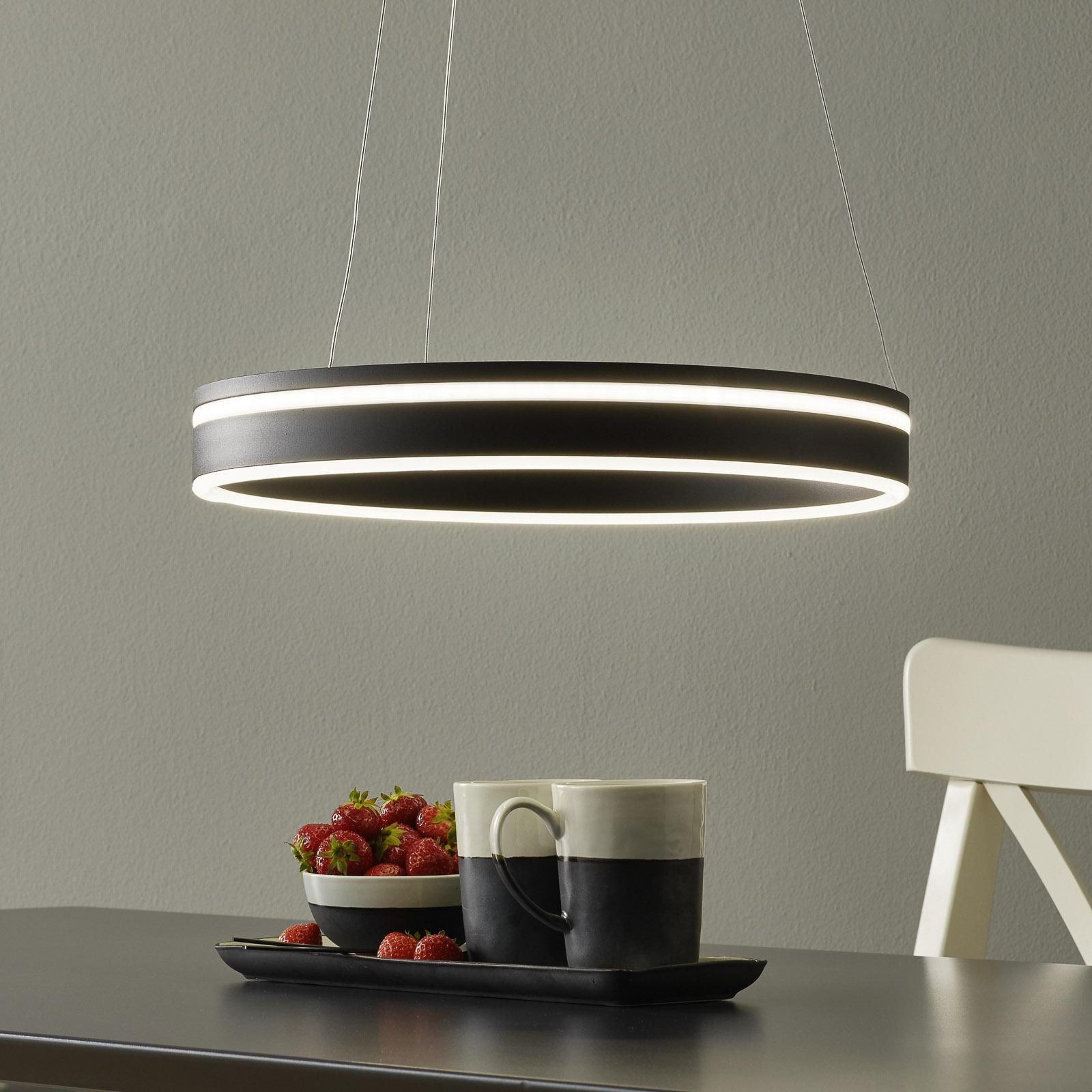 Paul Neuhaus Q-VITO LED-Hängelampe 40cm anthrazit