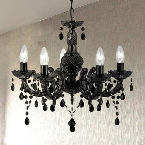 Grazioso lampadario Maria Teresa nero