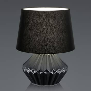 B-Leuchten Kera tafellamp, stoffen kap 46cm