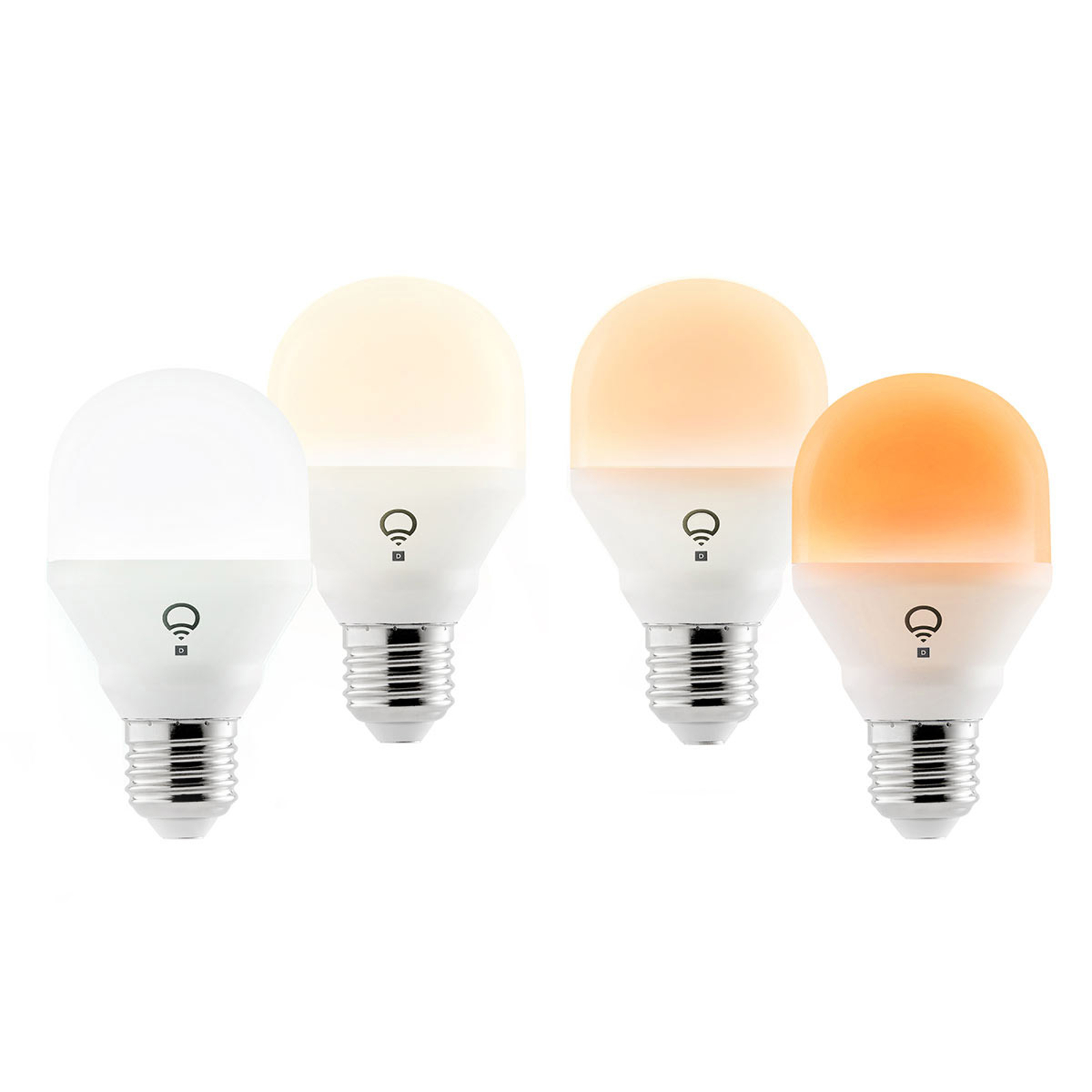 LIFX Mini Day&Dusk LED-Lampe, E27 9W, 4er Packung