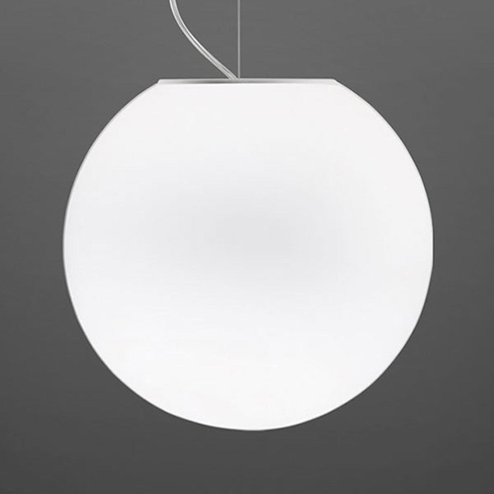 Fabbian Lumi Sfera hengelampe av glass, Ø 40 cm