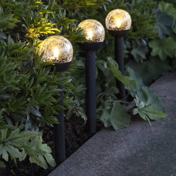 LED-solcellelampe Roma, sæt med tre dele
