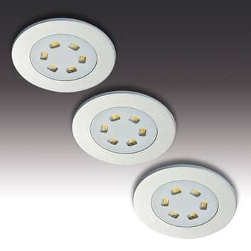 3dels-set LED-inbyggnadslampa R 55