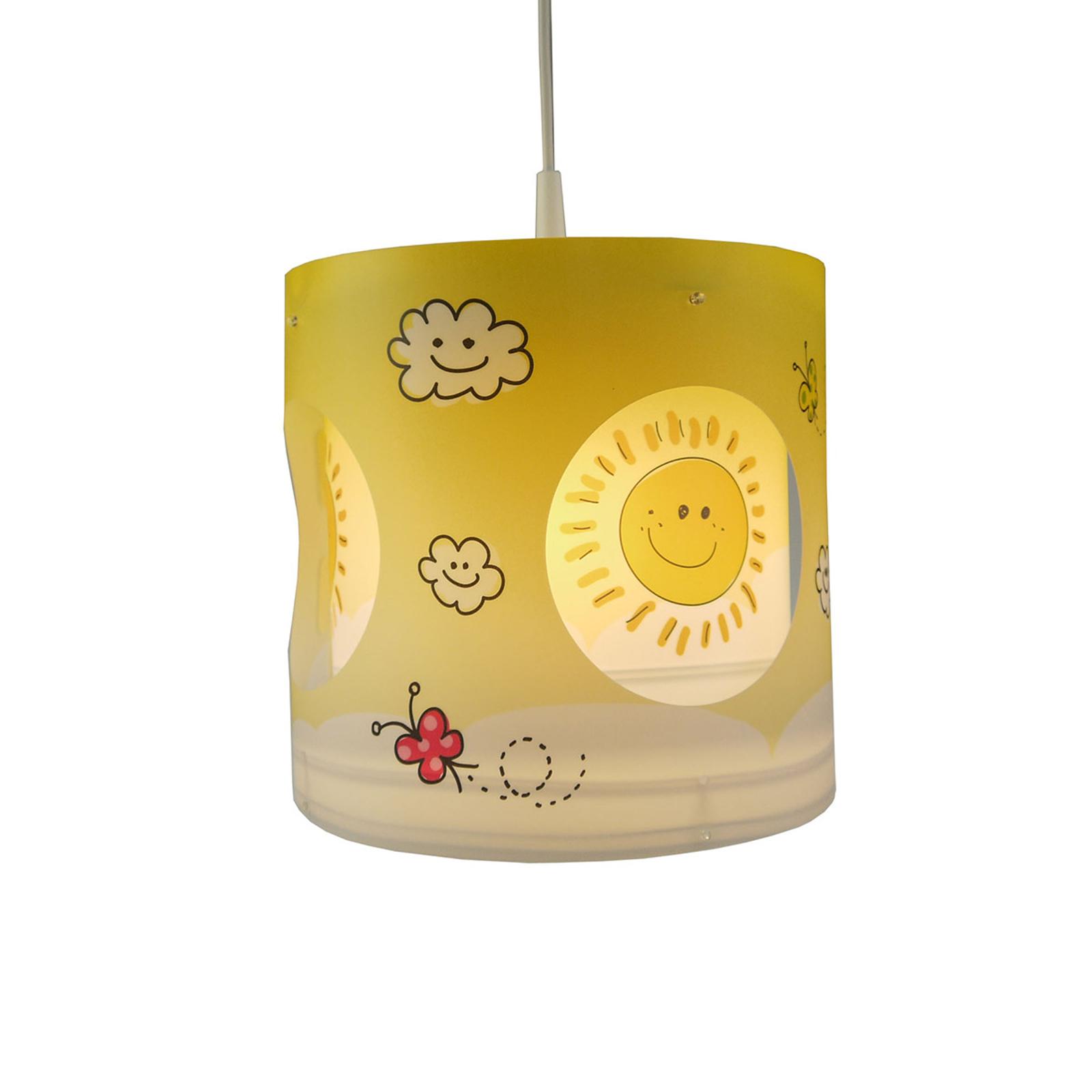 Drehende Pendelleuchte Sunny für Kinderzimmer