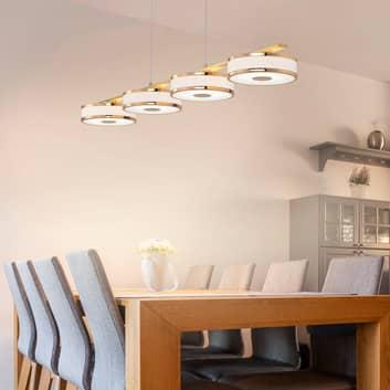 Suspension LED Agento, laiton, 4 lampes
