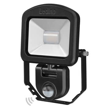 Reflektor LED Charlottenburg czarny 3000K sensor