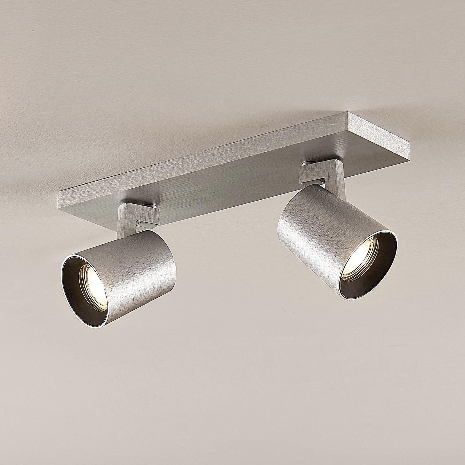 Takspot Iavo, justerbar, aluminium, 2 lyskilder