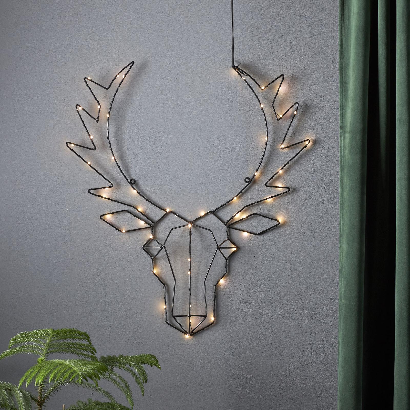 Cupid LED-dekorationslampe, rensdyrhoved