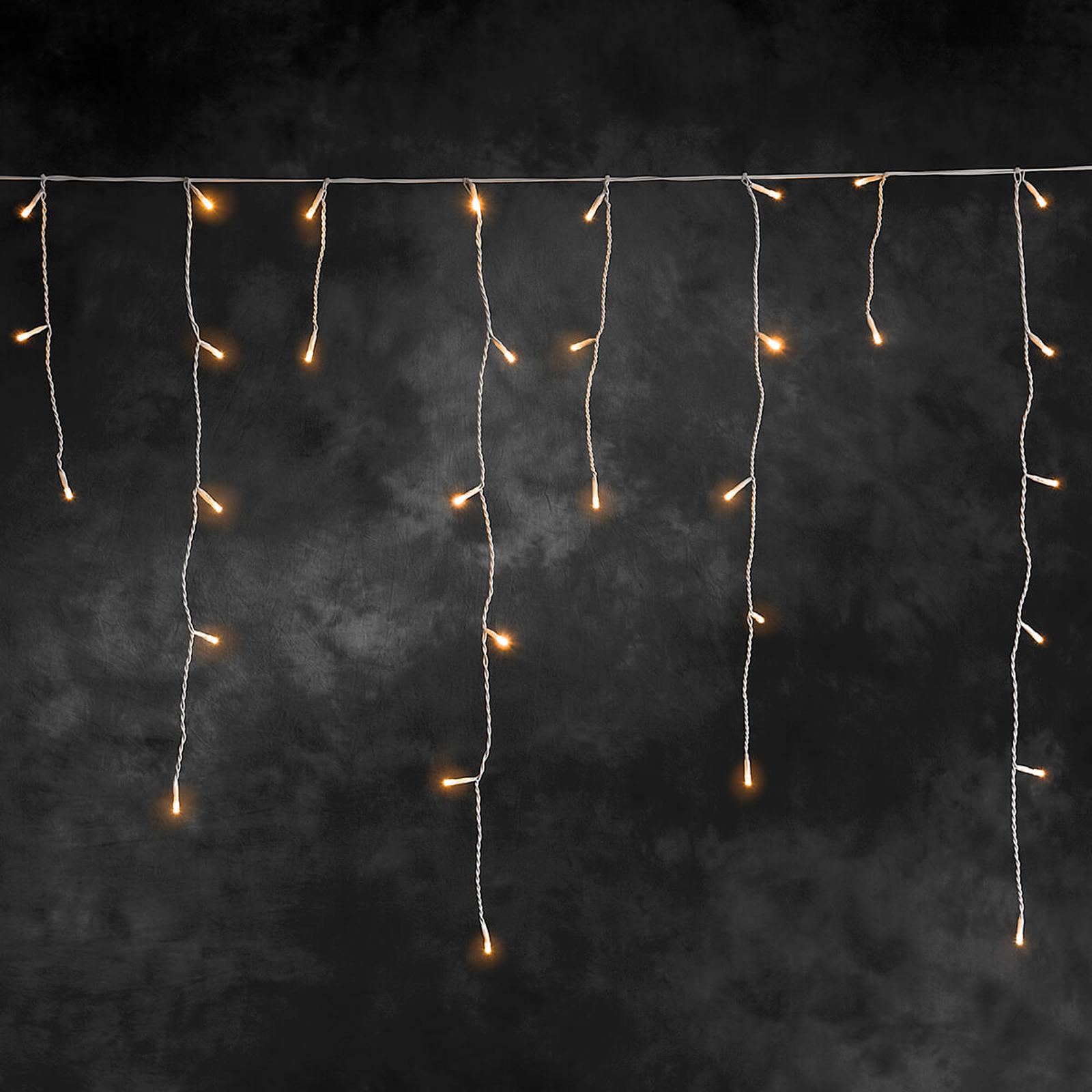 LED lichtgordijn Eisregen amber wit 5m