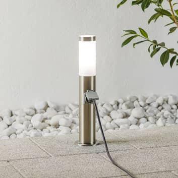 Sokkellampe rustfrit stål Chorus stikkontakt 50cm