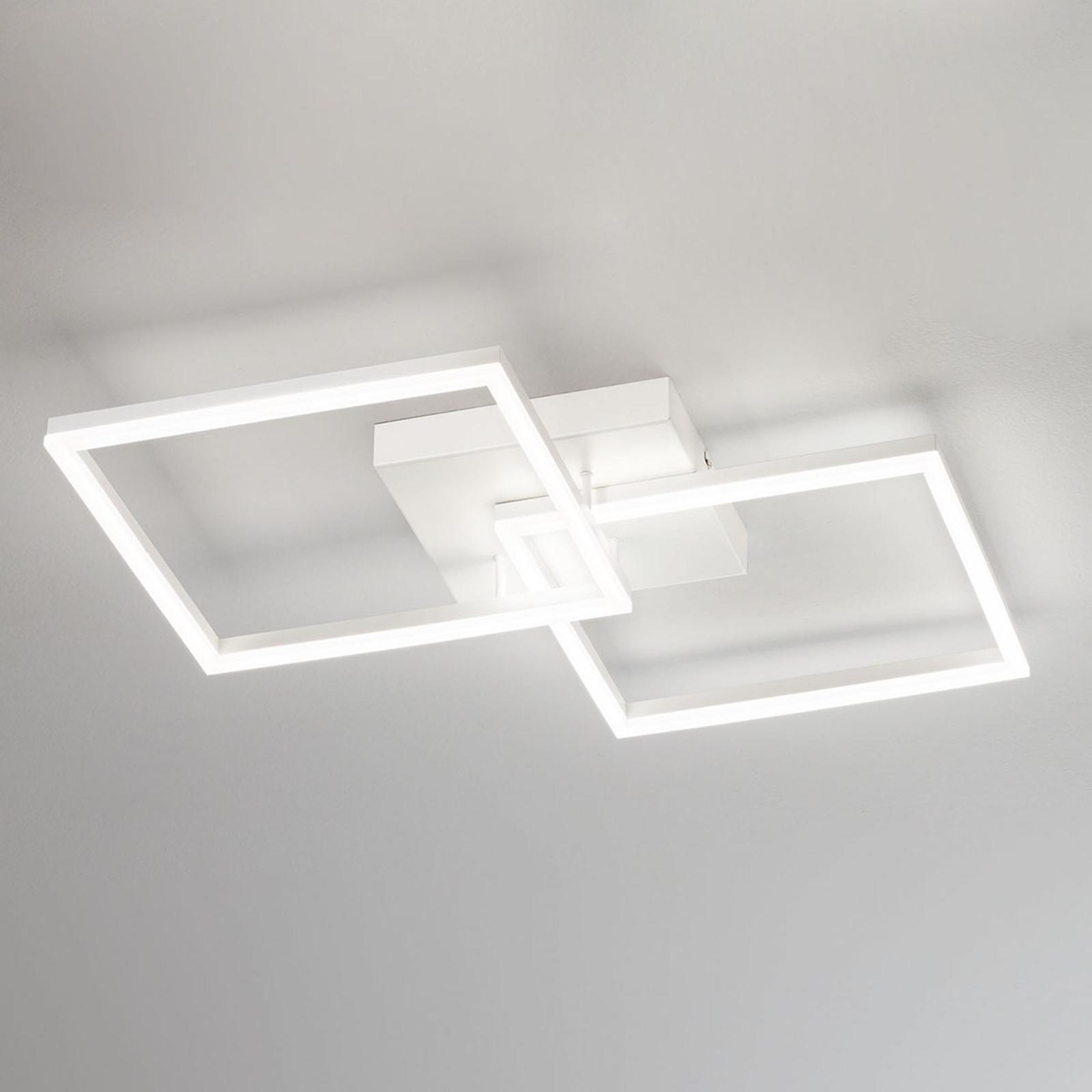 Moderne LED-taklampe Bard i hvitt