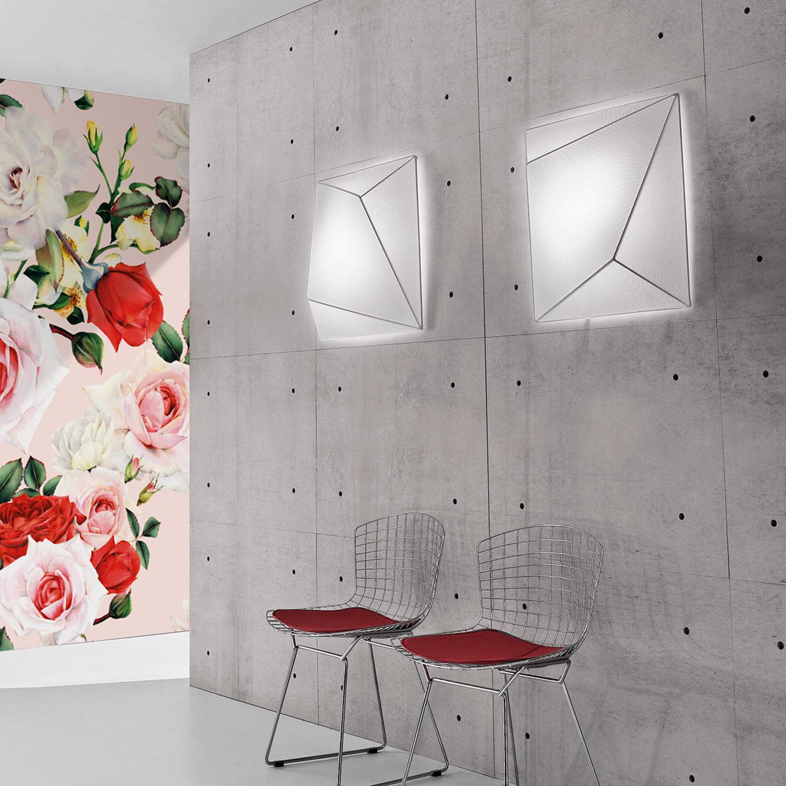 Axolight Ukiyo plafonnier en tissu blanc 55cm