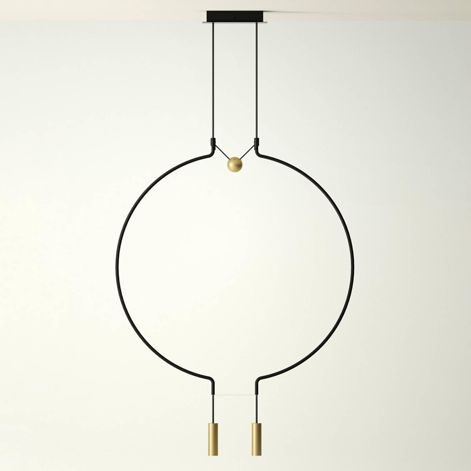Axolight Liaison M2 lampa wisząca czarna/złota 84