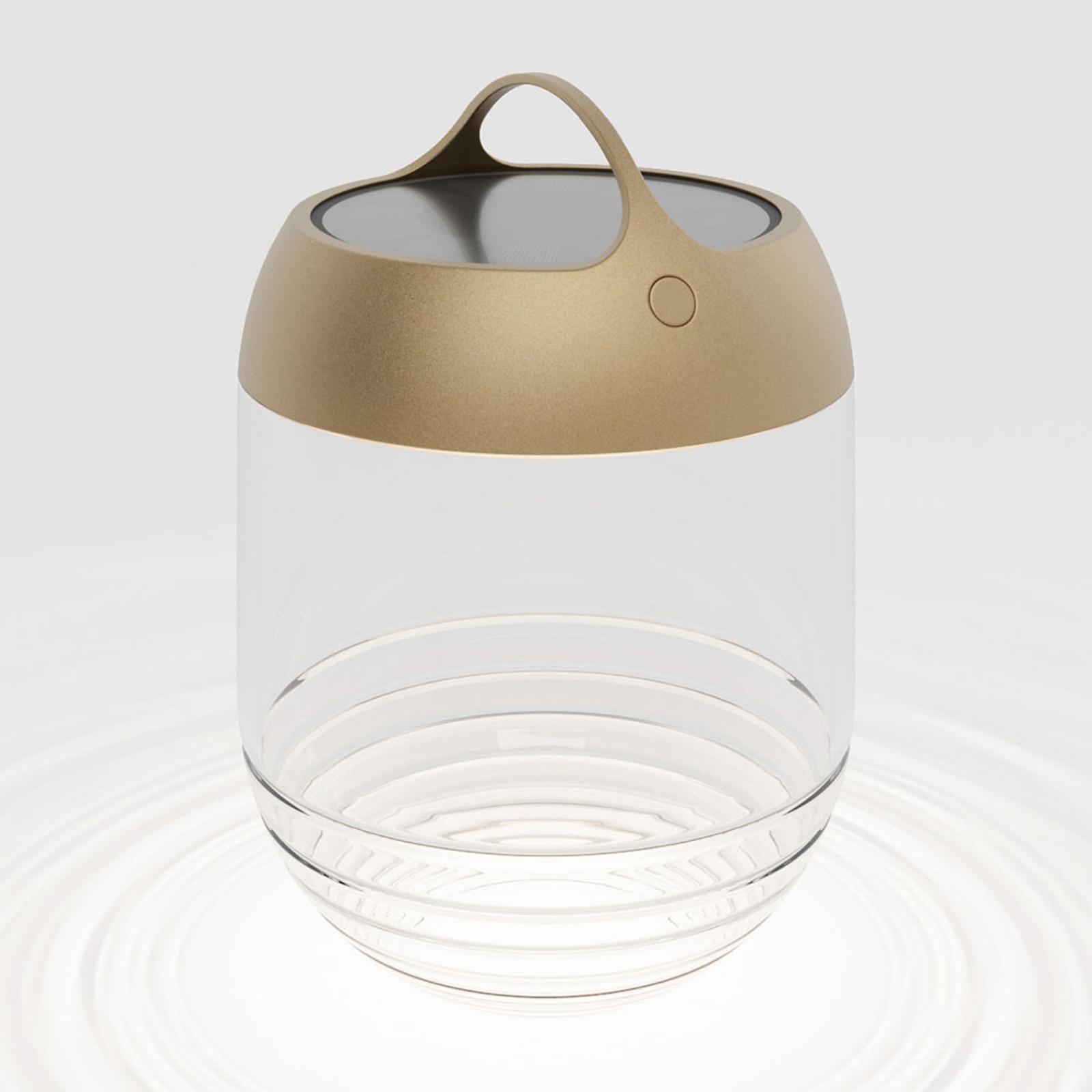 IP44.de aqu M lampa solarna LED, 35 cm złota