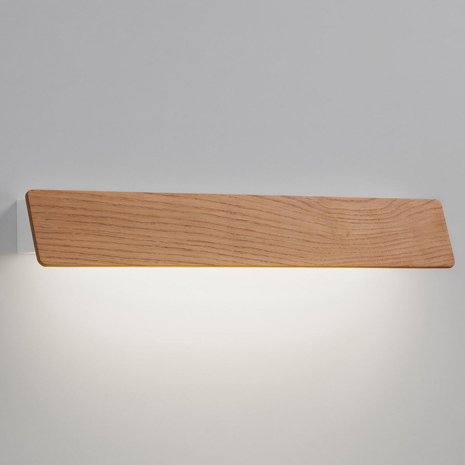 Bover Alba 60 - LED-spejllampe med egetræ
