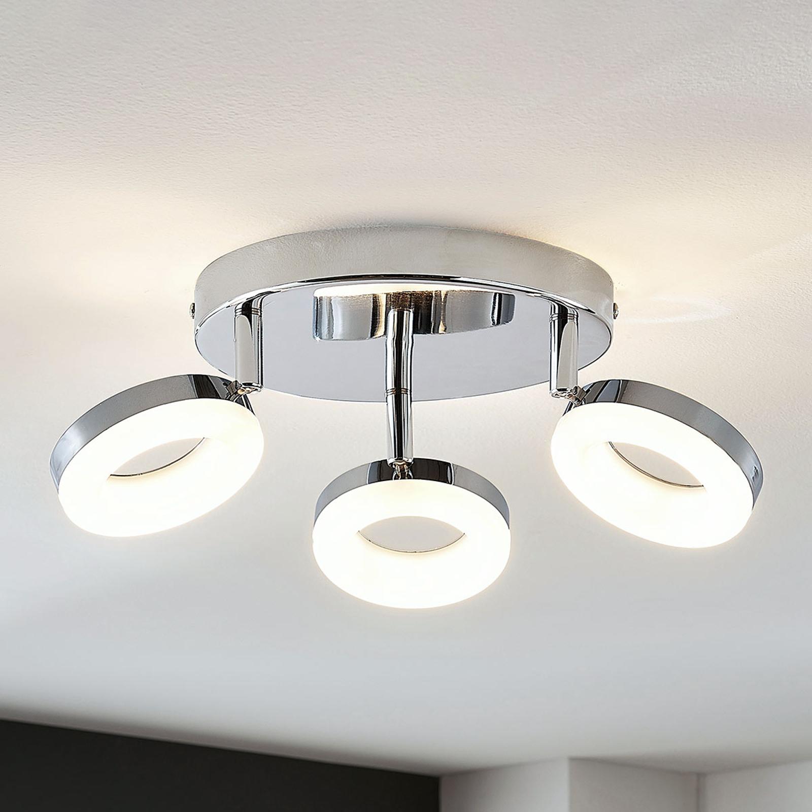 LED-taklampe Ringo 3 lyskilder, rund