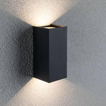 Paulmann Flame utelampe 2 lys 22 cm antrasitt