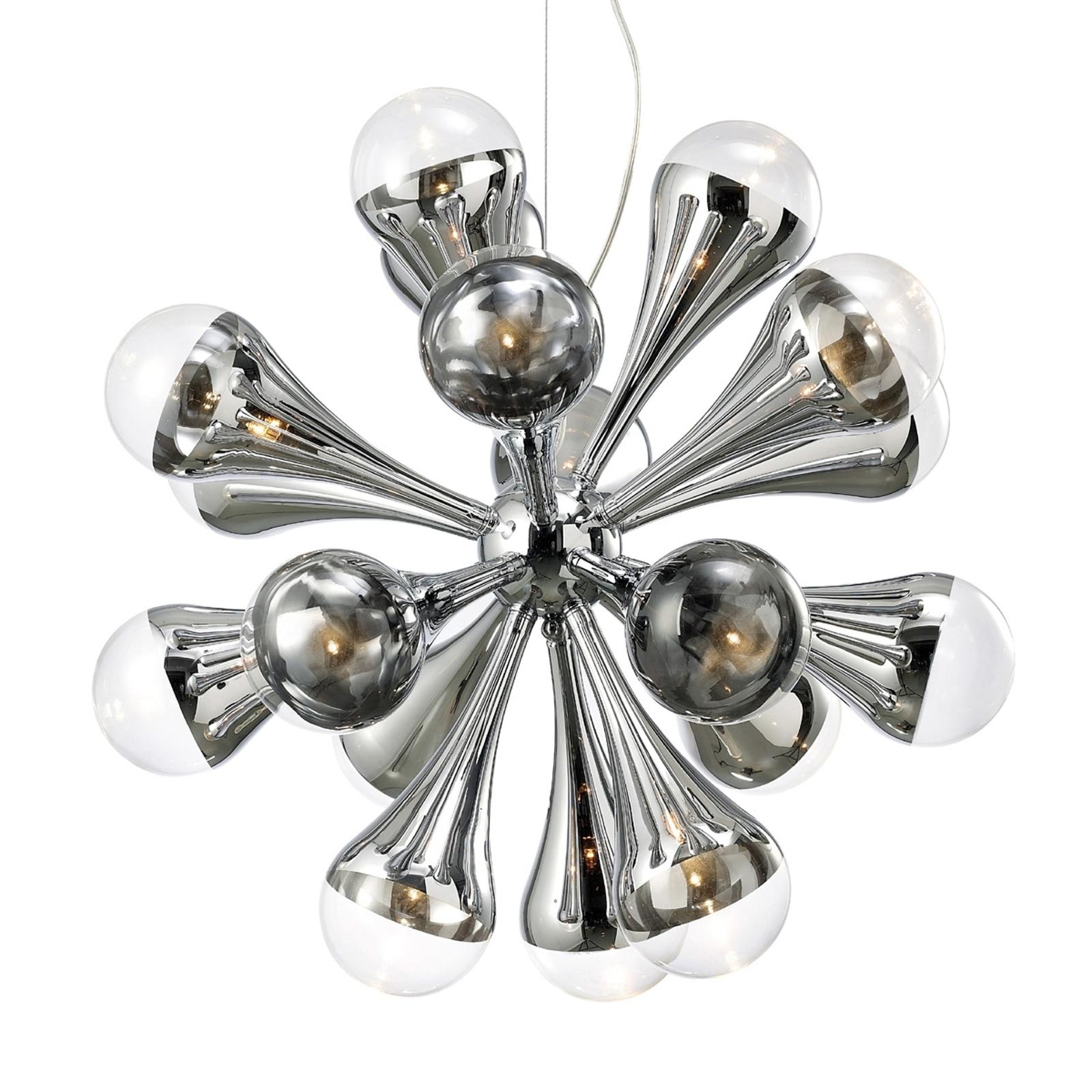 Fantazyjna lampa wisząca TROPFEN, 12-punktowa