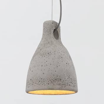Lenna - lampada a sospensione, calcestruzzo grigio