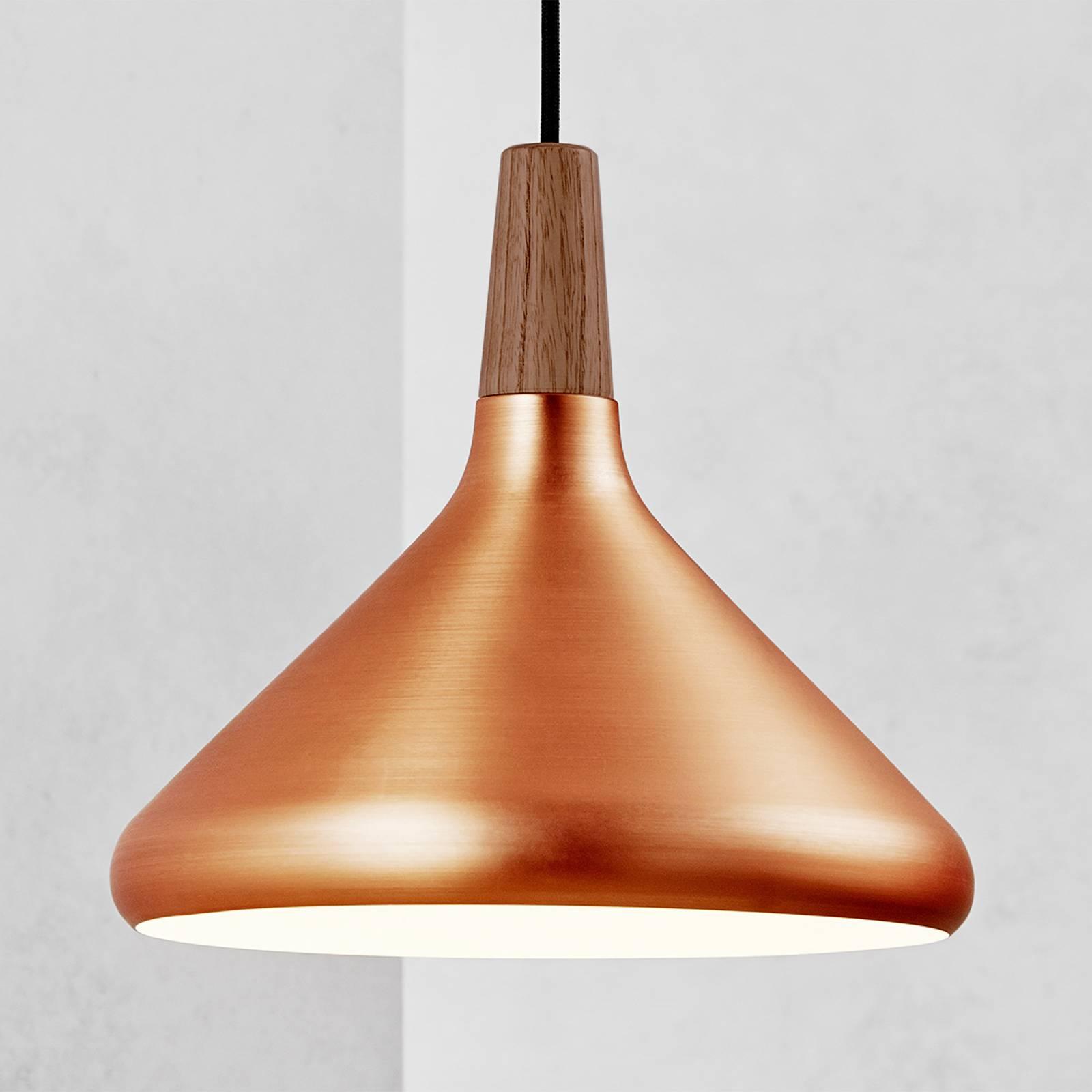 Billede af 27 cm - kobberfarvet hængelampe Float