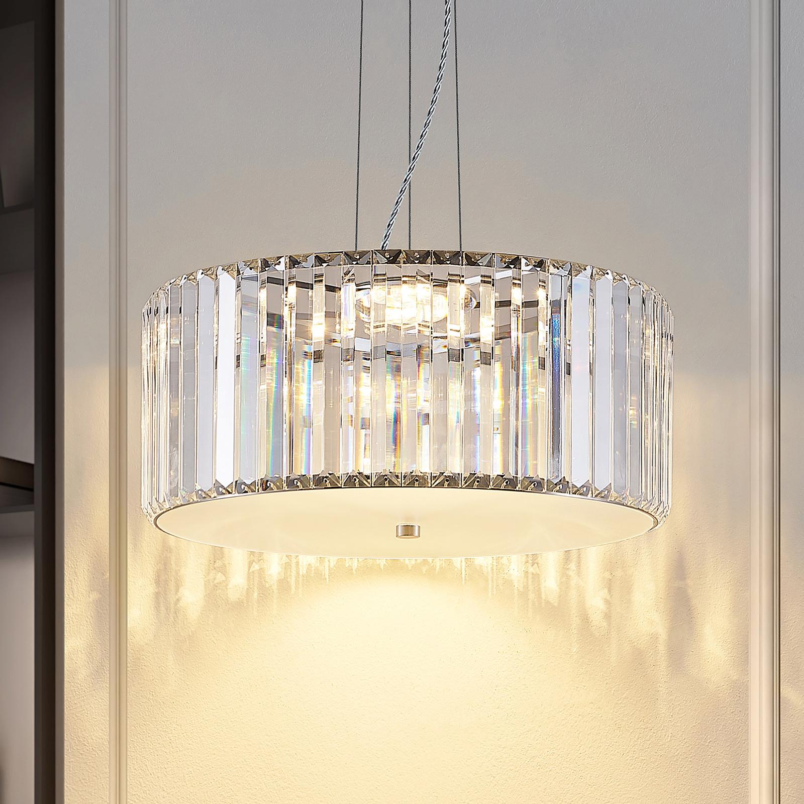 Lucande Alobani LED-hengelampe med krystaller
