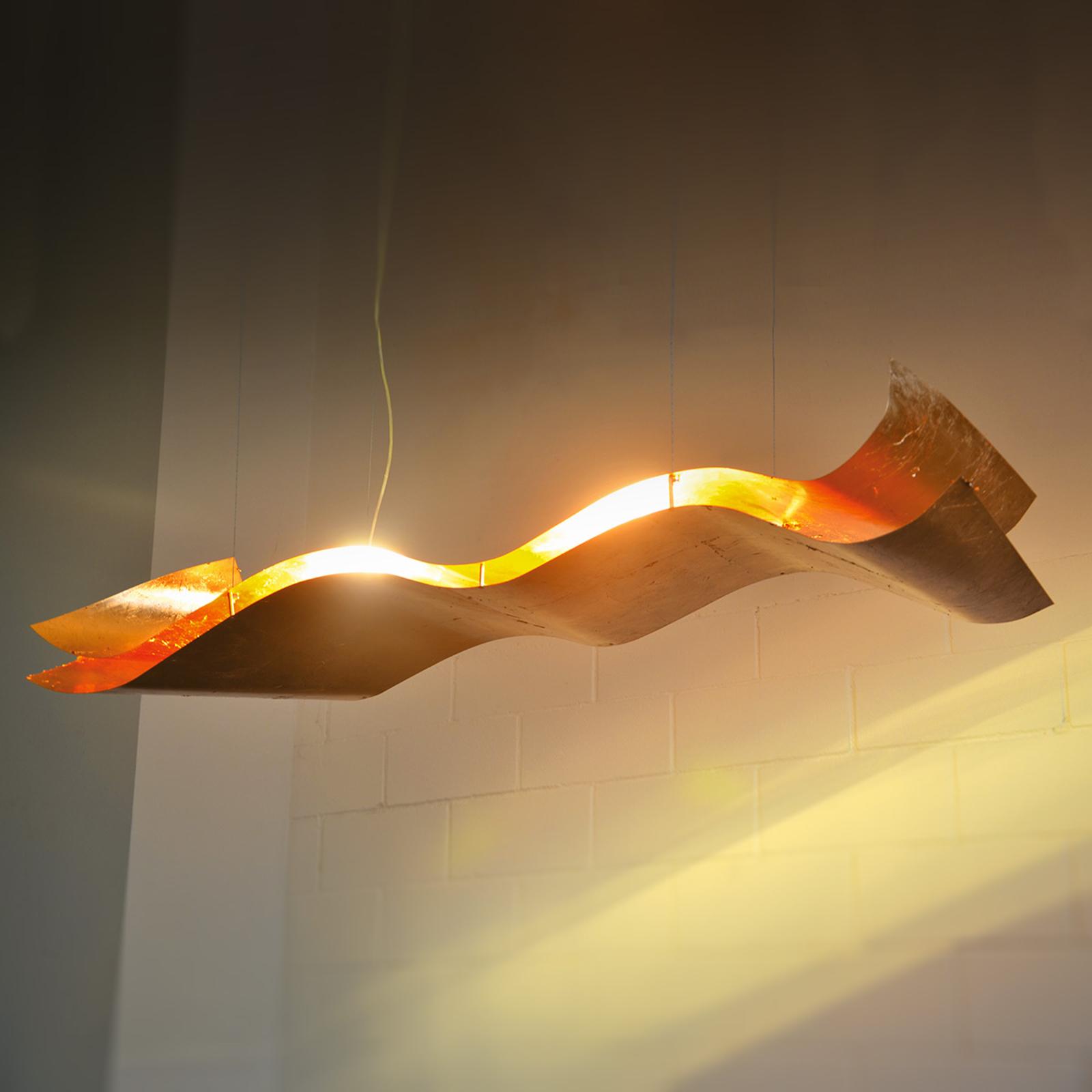 Szlachetna lampa wisz. A Tempo Perso płat. złoto