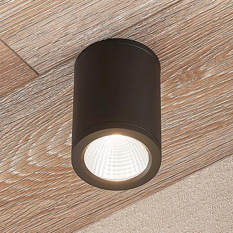 LED-downlight Embla af aluminium IP54, mørkegrå