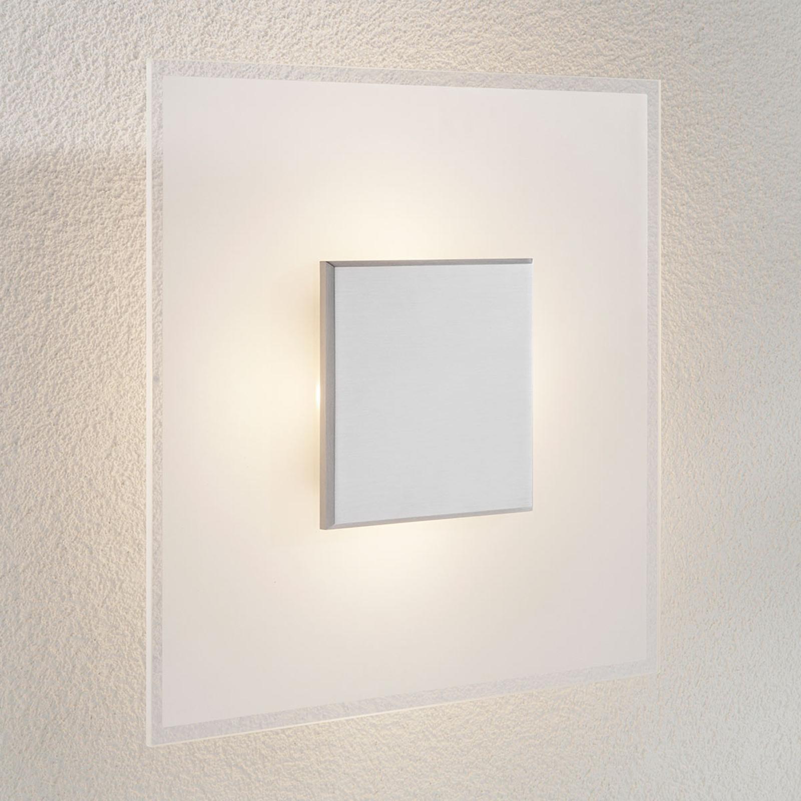 Dimbare LED wandlamp Lole van glas