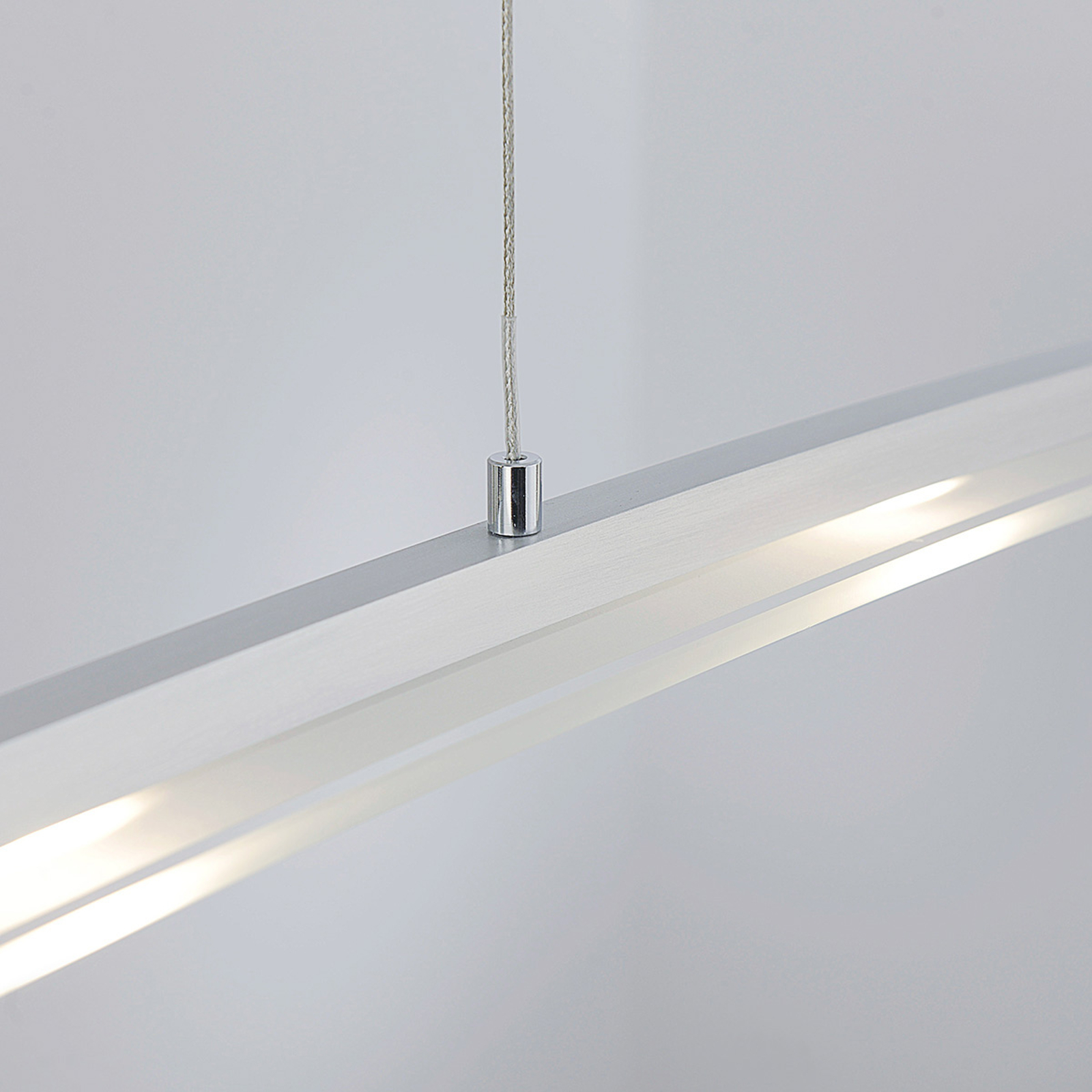 Juna - suspension LED, abat-jour verre, 98 cm long