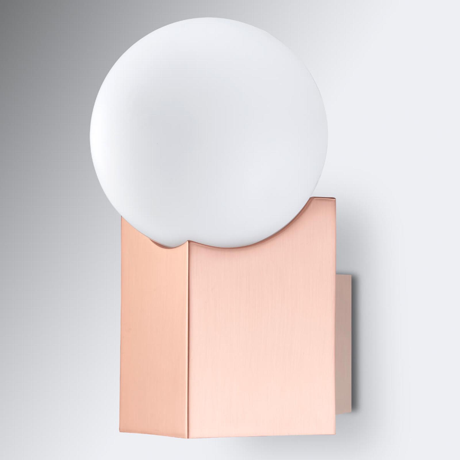 Wandlamp Cub koper