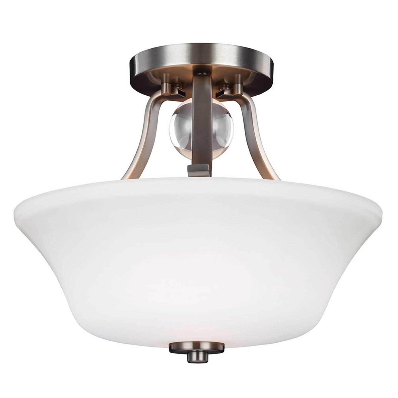 Plafondlamp met afstand Evington, nikkel