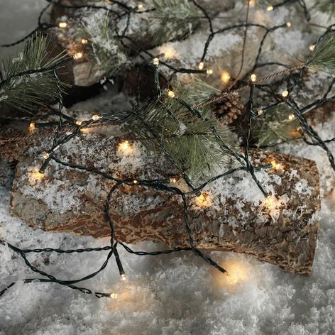 LED-ljusslinga Time Line, 40 ljus, för utomhus