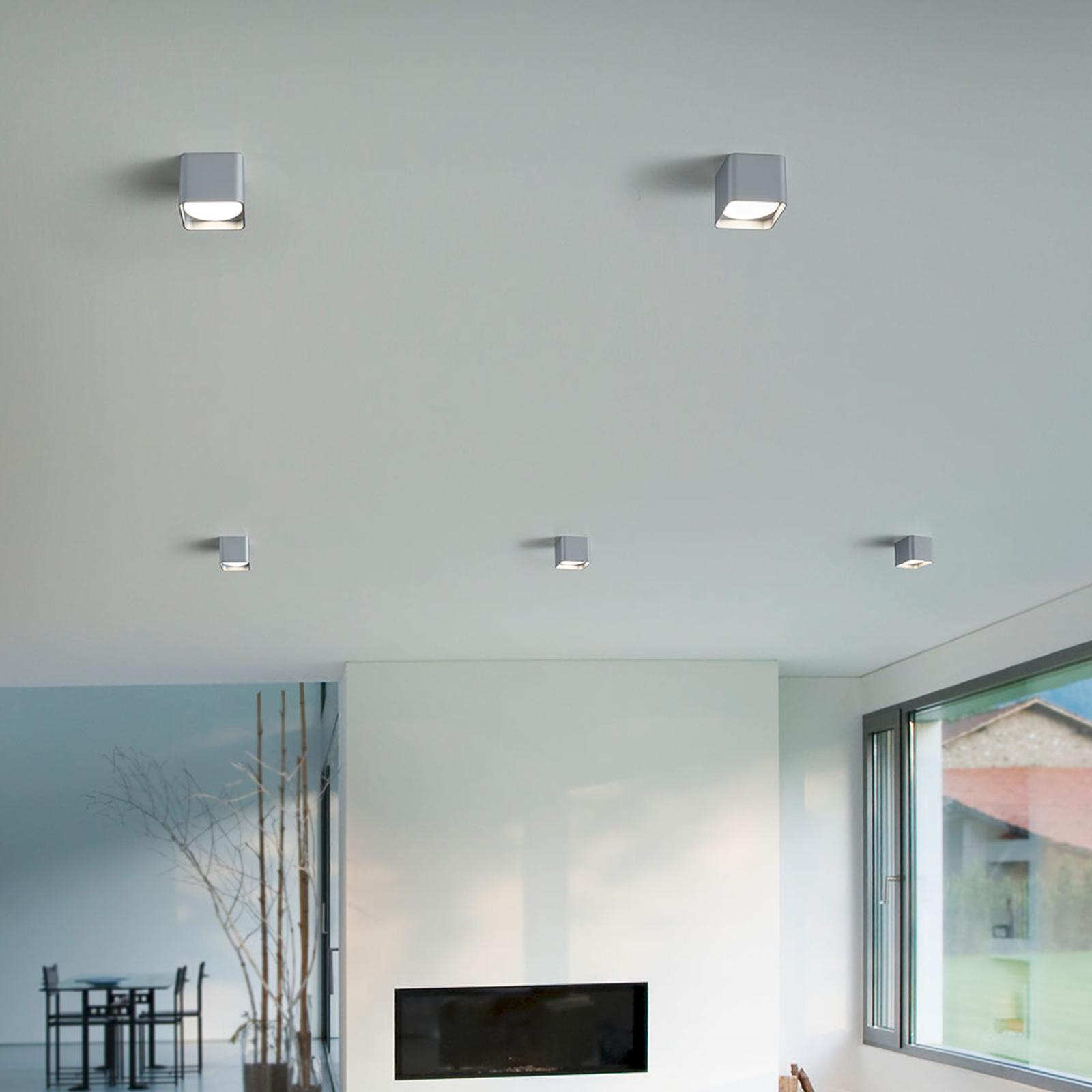 Acquista Helestra Dora plafoniera LED angolare, argento