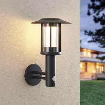 Lindby Volki LED-Solar-Wandleuchte mit Sensor