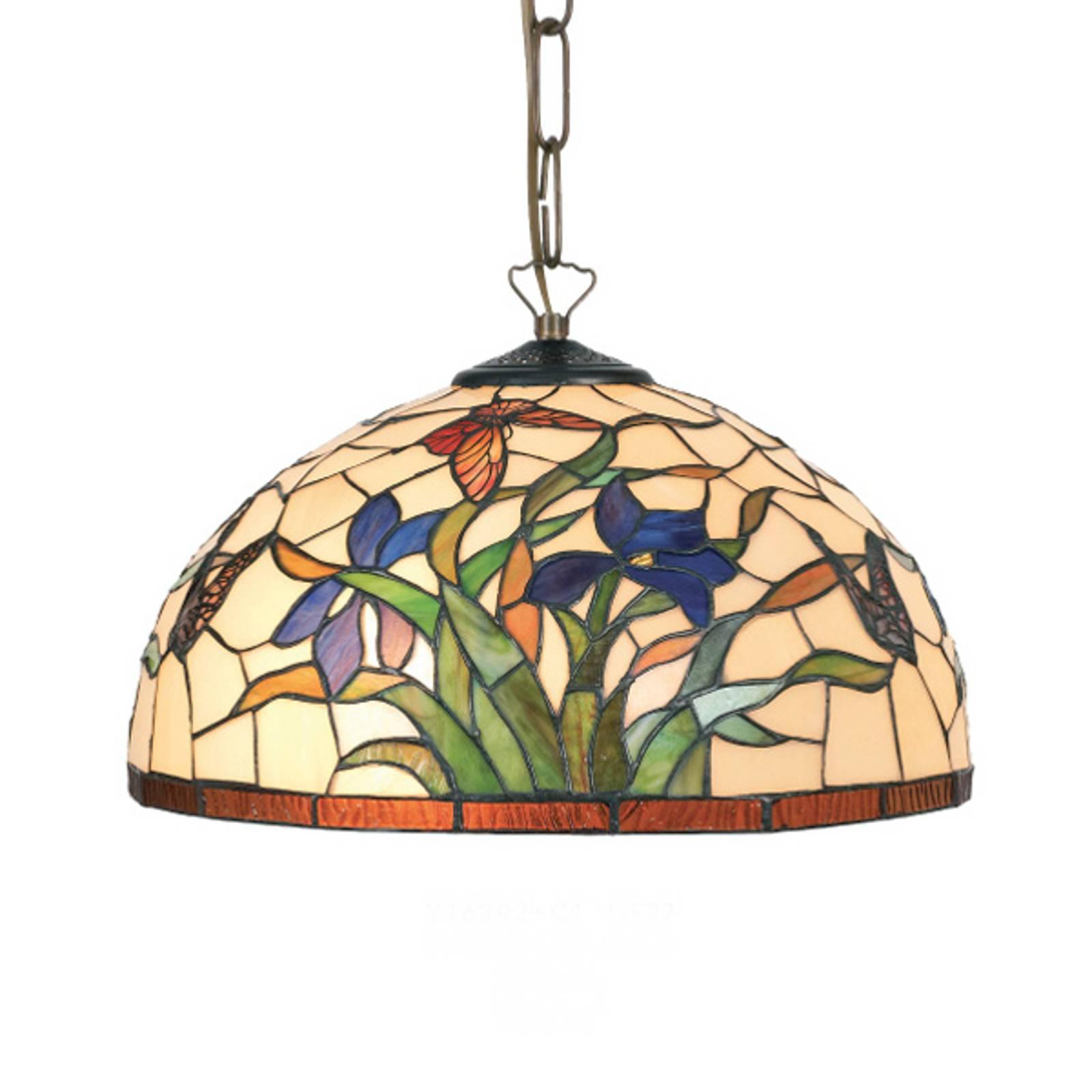 Suspension Elanda style Tiffany à 1 lampe
