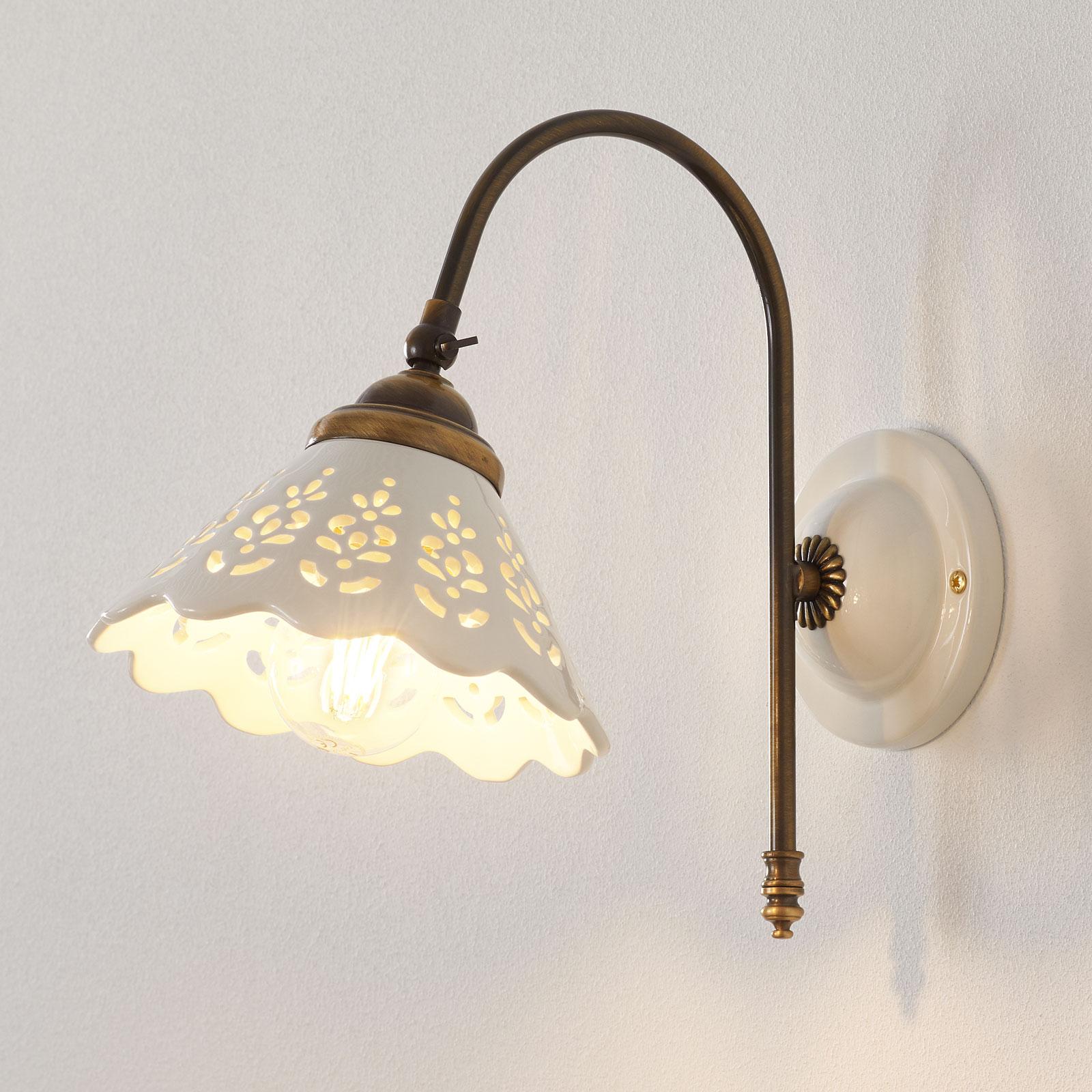 Portico - wandlamp met gebogen arm