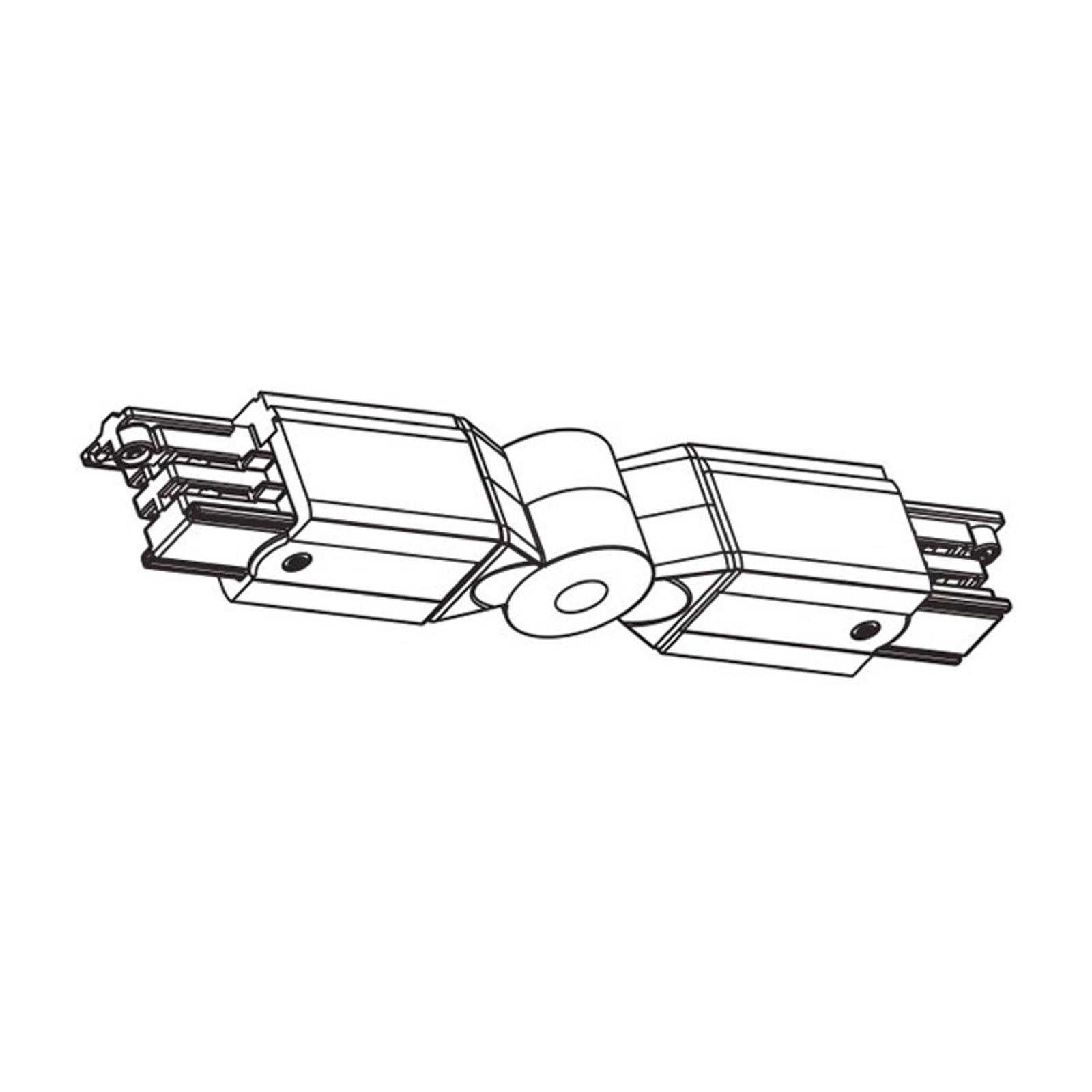 Winkelverbinder für HV-Stromschiene Noa, weiß