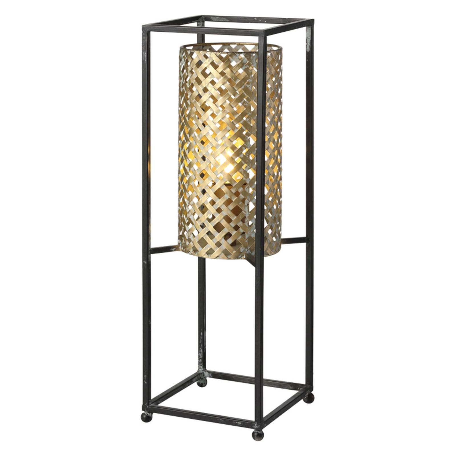 Tafellamp Petrolio, zwart / goud, hoogte 47 cm