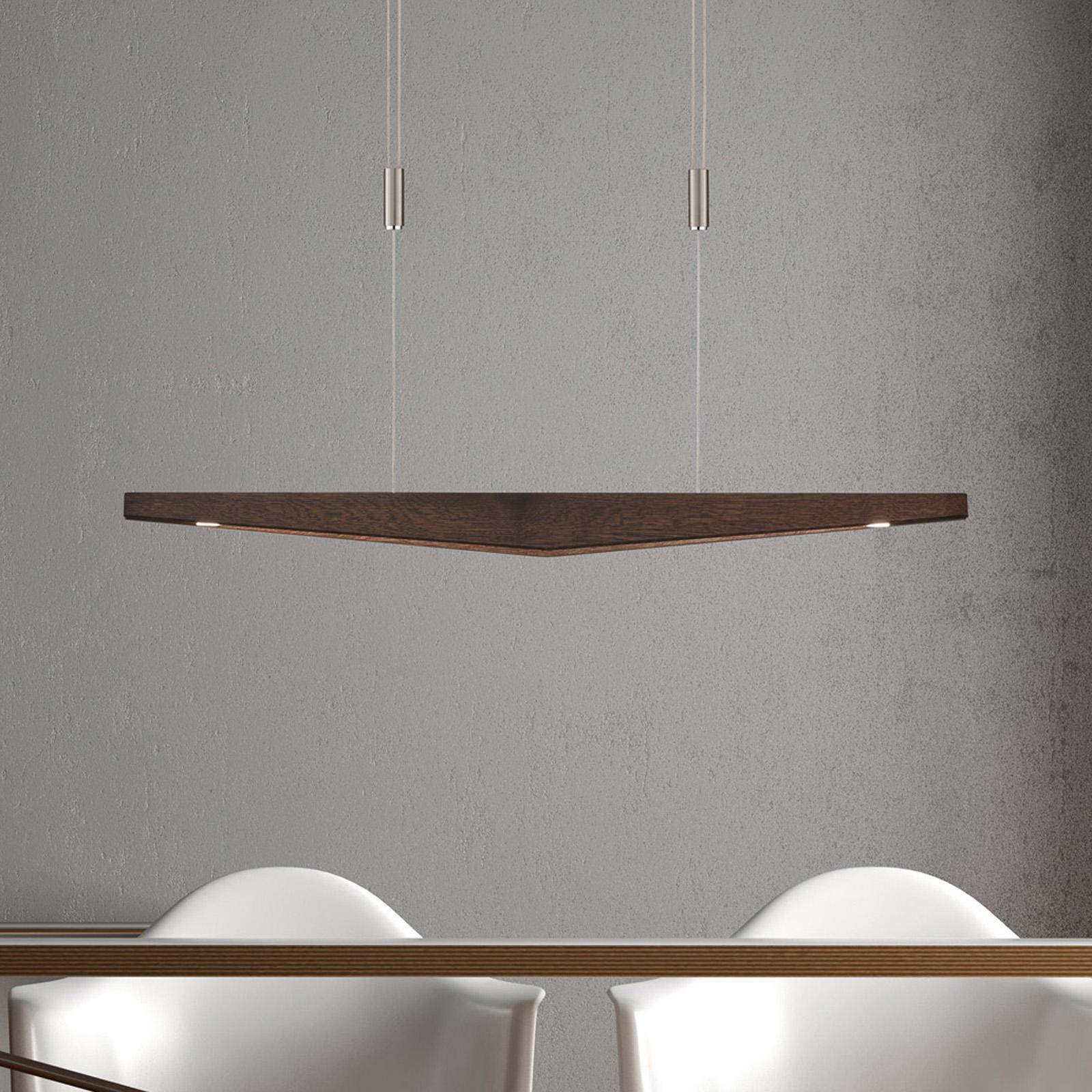 Lucande Dila LED-pendellampa ek kolonial 88 cm