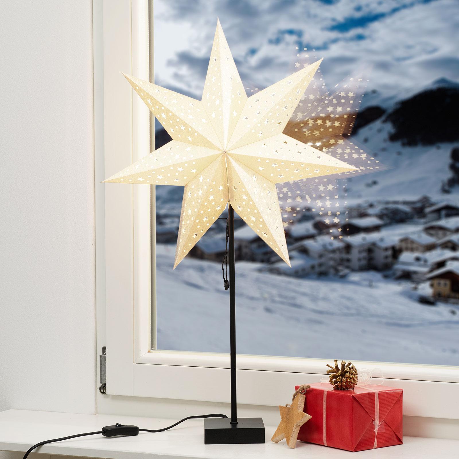 Stående stjerne Solvalla - høyde 69 cm gull